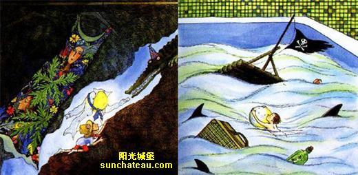 月亮的变化卡通图片
